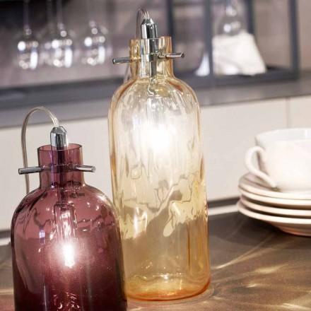 Selene Bossa Nova lampičky Ø10 H 26 cm v jantarové foukané sklo