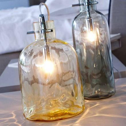 Selene Bossa Nova lampičky Ø15 H 21 cm v jantarové foukané sklo