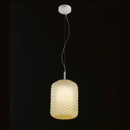 Selene Domino závěsná lampa foukané O21 H 27/140 cm sklo