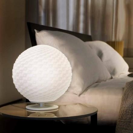 Selene Domino z bílého stolní lampy v foukaného O27 H 30cm