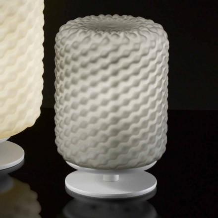 Selene Domino stolní lampa Ø15 H22cm, foukané sklo, ruční práce