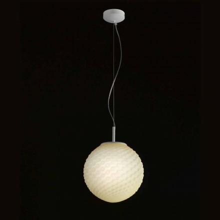 Selene Domino lustr foukané sklo ručně O27 H 27 / 140cm