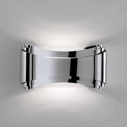 Selene Ionica nástěnné svítidlo vyrobeno v Itálii, 30x10 H16cm, skla a oceli