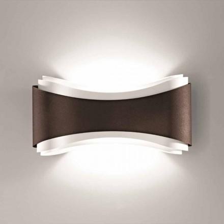 Selene Ionica nástěnné svítidlo vyrobené v Itálii, 40x12H20cm, ocel a sklo