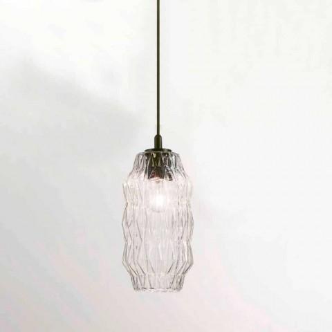 Selene Origami závěsná lampa foukané sklo O16 H 30 / 140cm