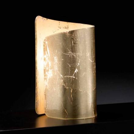 Selene Papiro stolní lampa krystal vyrobený v Itálii 15x14xH25cm