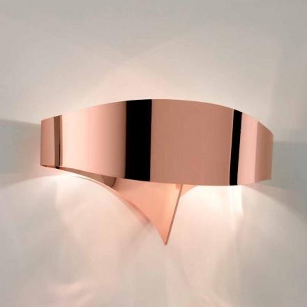 Selene nástěnné svítidlo Shield galvanické moderní design, vyrobeno v Itálii