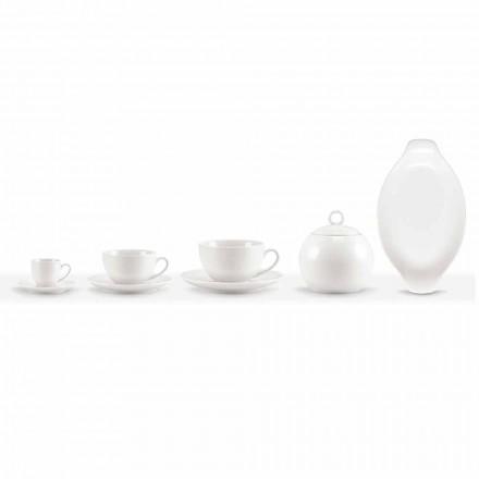 Sada 18 šálků kávy a čaje s cukřenkou a porcelánovým podnosem - Lucerna