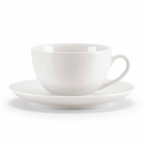 Sada 18 čajových šálků s cukřenkou a porcelánovým podnosem - Lucerna