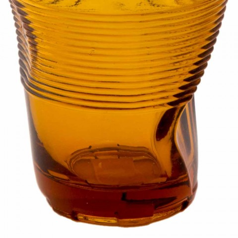 Barevné skleněné vodní sklenice sada 6 kusů zvláštní design - Sarabi