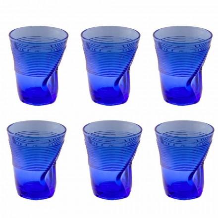 Barevné skleněné vodní sklenice Service 12 kusů zvláštního designu - Sarabi