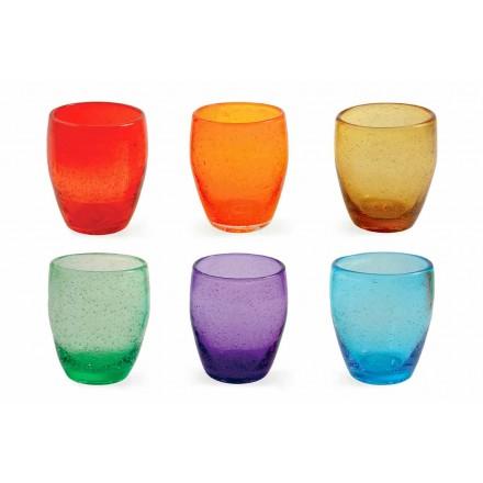 Vodní sklo Service v barevné a moderní sklo 6 kusů - Guerrero