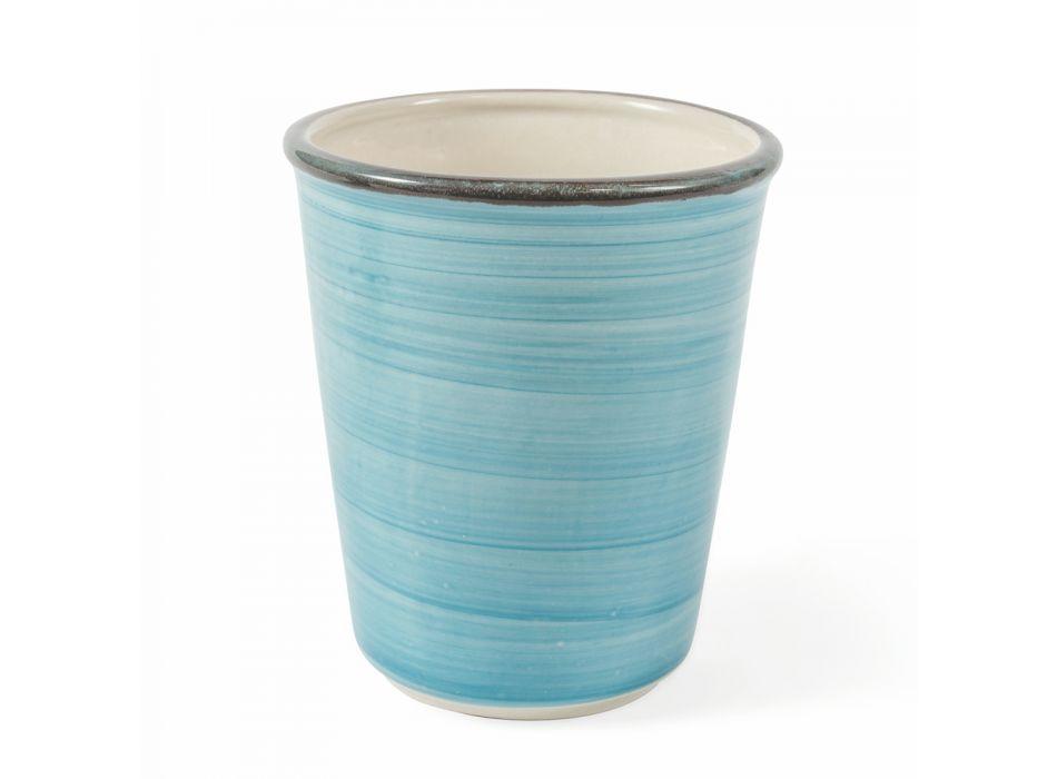 Služba 12 kusů barevných foukaných skleněných vodních brýlí - Abruzzo