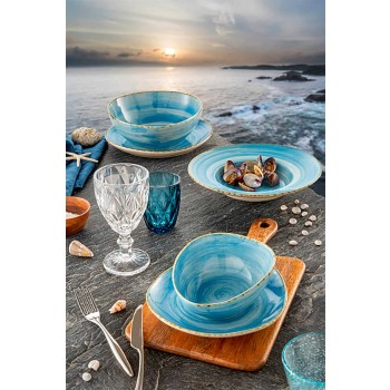 Barevné skleněné vodní sklenice sada 6 kusů moderního designu - Timon
