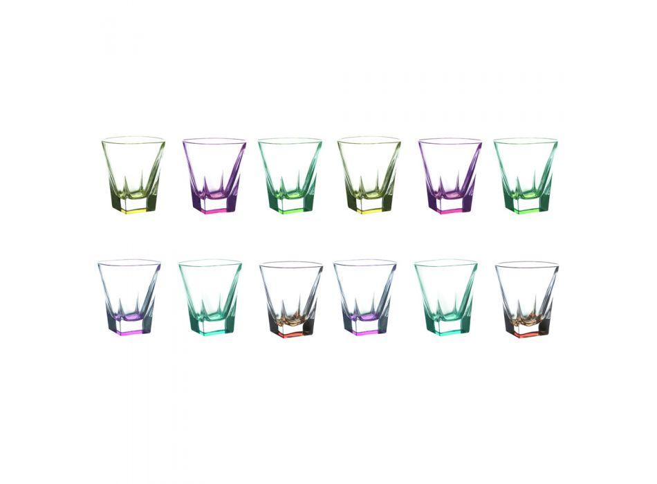 12 ks Ekologické krystalické likérové brýle - amalgám