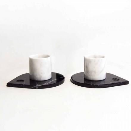 Kávový servis v Carrara Marble a moderní Marquinia vyrobené v Itálii - Garda