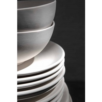 Bílý porcelánový servírovací set oválný talíř a mísa 10 kusů - Romilda