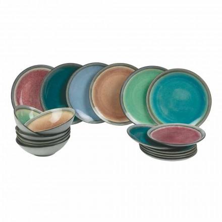 Jídelní stoly v moderním barevném kamenina dokončili 18 kusů - Nassau