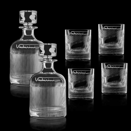 Ekologická služba Crystal Whisky přizpůsobitelná logem, 6 kusů - hmatová