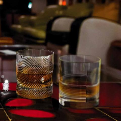 6dílná luxusní designová sada ekologické křišťálové whisky - hmatová