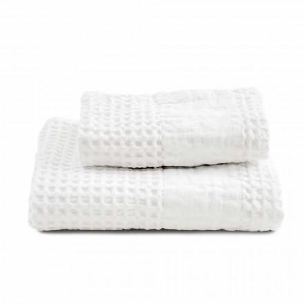 Koupelnová sada ručníků v bavlněném plástu a barevném prádle - Turis