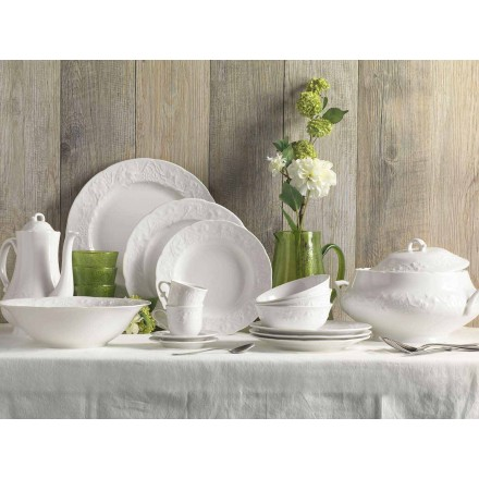 Sada 27 elegantních desek z bílého porcelánu - Gimignano
