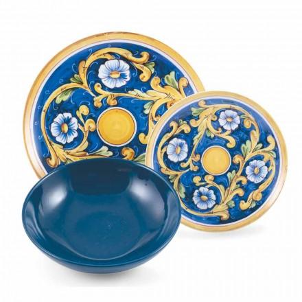 Kompletní sada nádobí s barevným a moderním jídlem 18 kusů - Cefalu