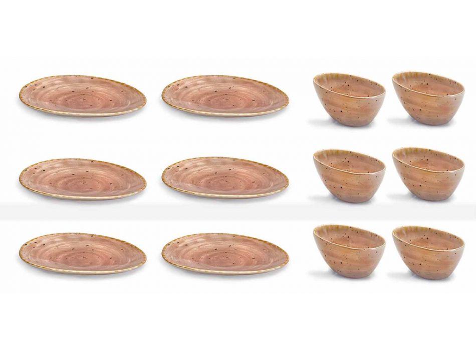 12ks předkrmů Desky Service v barevné kameniny moderního designu - Simba