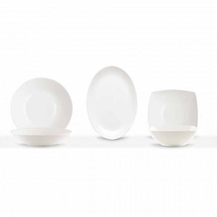 Servírovací jídla 3 kusy moderního designu v bílém porcelánu - Malaze