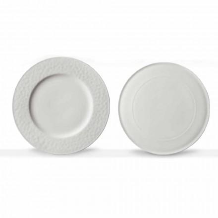 Gourmet Design servírovací jídla v bílém porcelánu 2 kusy - Flavia