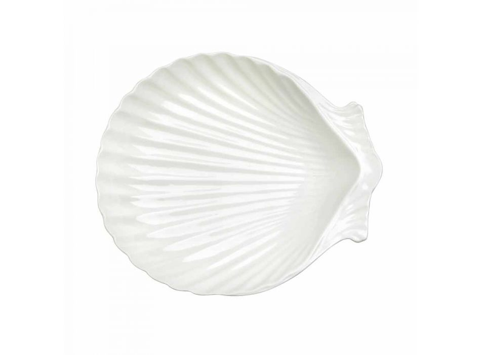 Bílé porcelánové servírovací nádobí sada 30 kusů - Nalah