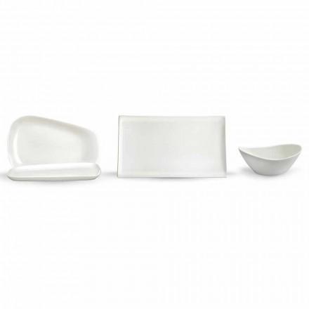 Servírovací talíře na oběd nebo moderní porcelánové 14 kusů - Nalah