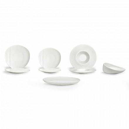 Sada moderních porcelánových talířů 26 kusů - Nalah