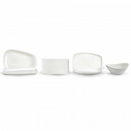Večeře z bílého porcelánu nebo servírovací jídla - Nalah