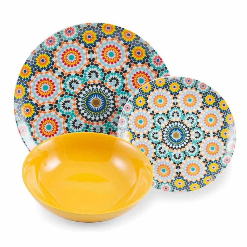 Barevné talíře pro etnické večeře Porcelán a kamenina 18 Mad - Maroko