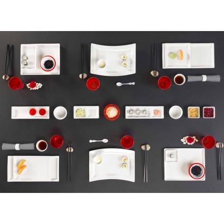 Jídla sada moderního designu obdélníkového porcelánu 25 kusů - Melbourne