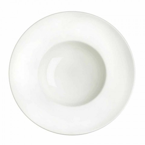 Bílé porcelánové stolní nádobí sada 23 kusů moderního a elegantního designu - Nalah