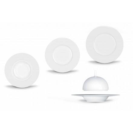 Moderní a elegantní večeře v porcelánu, 24 kusů - dalekohled