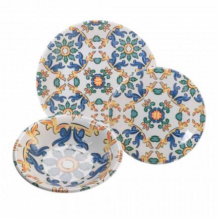 Moderní nádobí v barevné keramice, kompletní 18 kusů - Abatellis