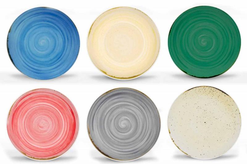 18dílná porcelánová barevná a moderní talířová služba - Rurolo