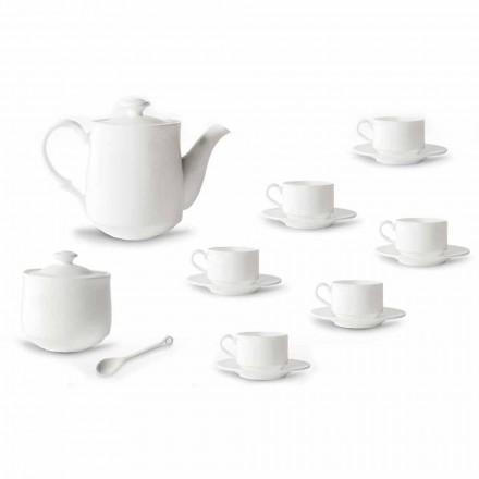 Šálek kávy v bílém porcelánovém designu stohovatelných 15 kusů - Samantha
