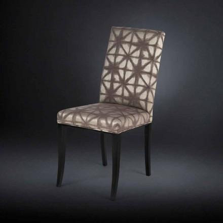 2. září čalouněné moderní židle s dřevěnou nohou v černé Audrey