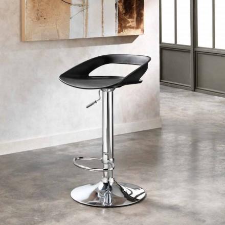 2. září stoličky v chrom kov a PVC Aldo, moderní design