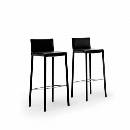 Designová ocelová stolička čalouněná v umělé kůži, kůži nebo na schovávanou