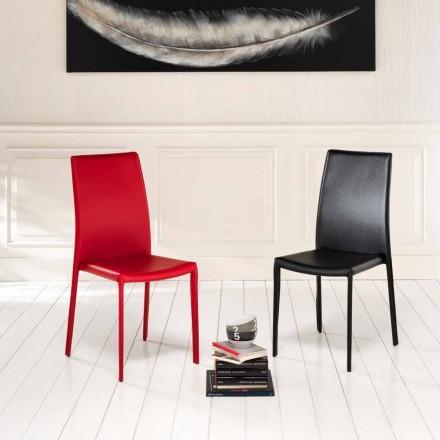 4.září moderní židle Joy imitace kůže, zcela pokryty