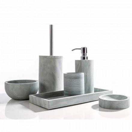 Montale šedá kamenná koupelnová souprava