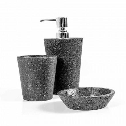 Montiano lávové kamenné koupelnové doplňky