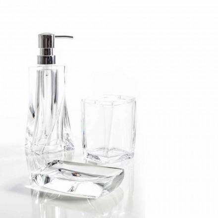 Torraca dávkovač + pohár + mýdlová mísa pro návrh koupelny