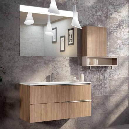 Závěsná konstrukce koupelny v ecolegno z Itálie, Cesena