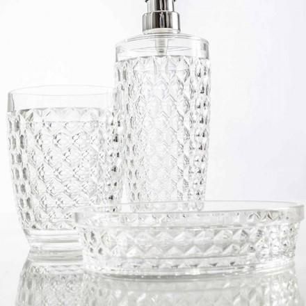 Sada pro koupelnový automat + sklo + moderní mýdlo Netro
